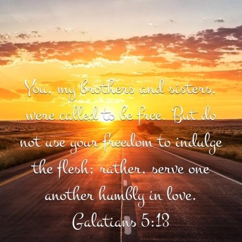 11 APR 2017 Galatians 5 13