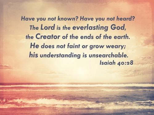 Isaiah 40 28 El Olam